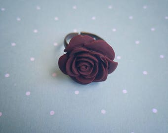 Purple Flower Adjustable Ring - The Hidden Bin
