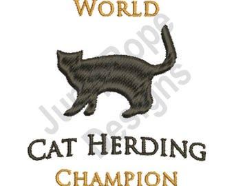 Cat Herding - Machine Embroidery Design