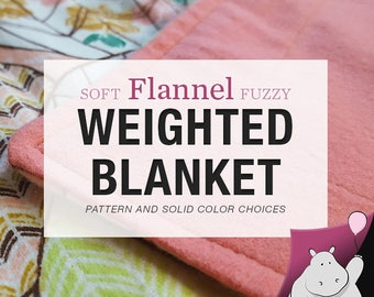 Flannel Weighted Blanket - Single Size: 40x70""