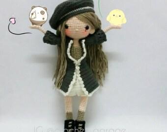 Crochet doll pattern / Amigurumi doll pattern - AMARYLS