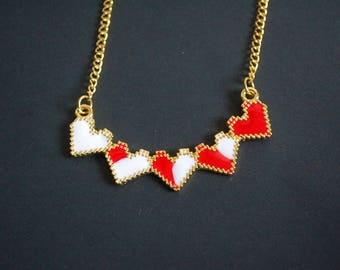 Legend of Zelda pixel heart health necklace