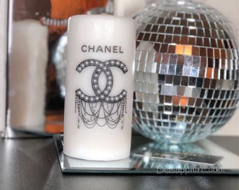 Chanel Candle, Pillar Candle, Custom Candles, designer candles