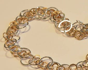 Silver necklace, silver necklace, silver necklace with gold plating, bridal Jewelry