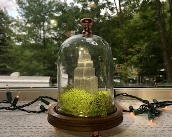 Crystal Terrarium // Terrarium // Crystal Healing // Crystal Decor // Home Decor // Gift Ideas // Selenite // Selenite Tower // New Age