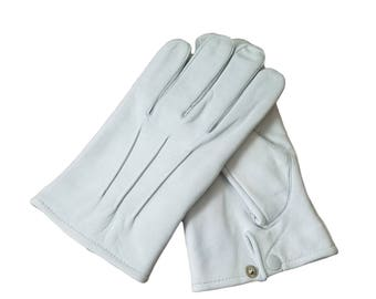 Men's Dress Leather Unlined Gloves