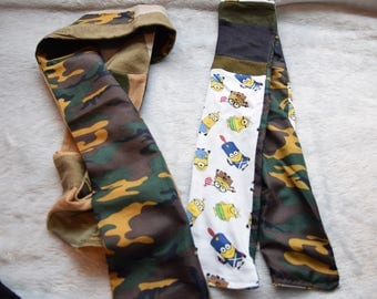 Christmas Value Pack 2 Scarves Boys Minions on Brigade Boys Versatile Scarf with Camo and War Scarf Size 5-10 years