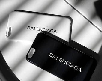 Balenciaga logo iPhone Case, unique iPhone case, black white hard case, iPhone 5 5SE 6 6S 6 Plus 6S Plus 7 Plus 8 plus X Galaxy Samsung LG