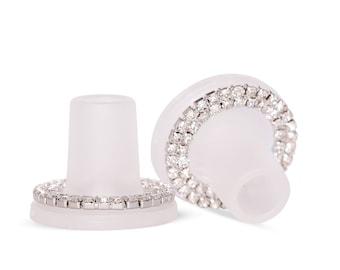 Bridal/The Races Diamante Clean Heels Heelstoppers plus FREE plain pair!