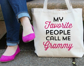 My Favorite People call me Grammy Canvas Tote Bag