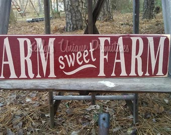 Farm Sweet Farm Wooden Country Signs Home Decor Country Decor Rustic Decor Primitive Decor Farmhouse Decor