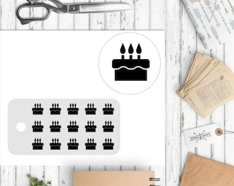 Mini decals - functional sticker - functional decal - planner stickers - functional planner - small stickers - white space stickers