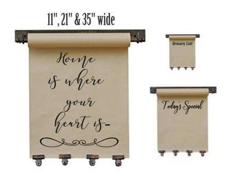 "35"" Wide Hanging Kraft Paper Note Dispenser"