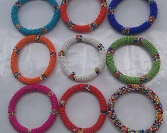 Masai beaded bracelets
