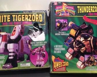 Power Rangers White Tigerzoid and Thunderzord Assault Team FREE SHIPPING