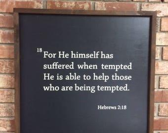Hebrews 2:18 sign