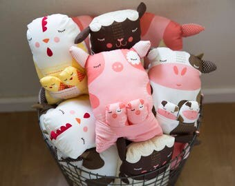 Cute Cuddly Pillow Farm Animals