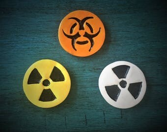 Ceramic Chemical Bio-Hazard Magnets