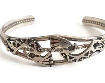 Sterling Silver Kokopelli Cuff Bracelet, Southwest Style Bracelet, Silver Cuff Bracelet, Sterling Bracelet, Southwestern Bracelet