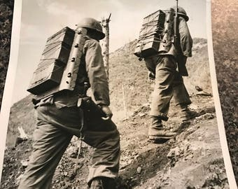 Vintage 1952 Wire Photo Korea