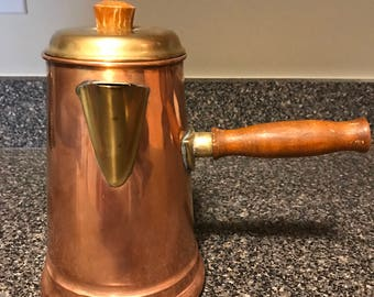 Vintage Copper Tea/Coffee Pot
