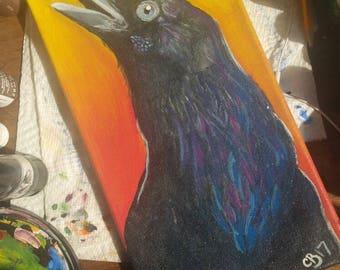 Raven Original Painting