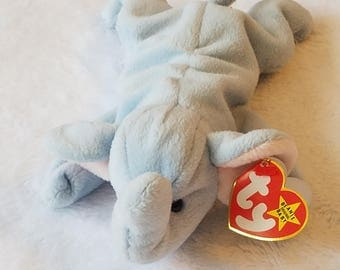 Ty Beanie Baby 1995 PEANUT The Elephant EXCELLENT CONDITION