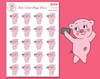 Selfie Oinkers - Selfie Planner Stickers - Selfie Stickers - Take a Selfie - Planner Stickers - Photograph - Photo Stickers - [Misc 1-21]