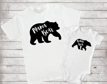 Family Bear matching shirts. Momma Bear, Papa Bear, Brother Bear, Sister Bear, and Baby Bear Perfect for Pregnancy Announcement
