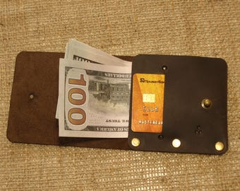 Leather wallet, Simple wallet, Purse banknote, Minimalist wallet, Leather wallet DoshchBeCool #bc34