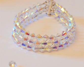 Triple Strand Crystal Bracelet