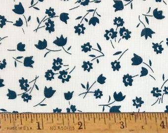 "Nautical Bliss Farm Cloth Feedsack Print Cotton Fabric (Full Yard 36"" x 44"")"