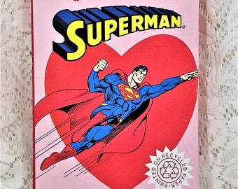 Superman Valentine Cards, American Greetings Forget Me Not, One Pack of 38 Cards and Envelopes, Vintage Greeting Cards