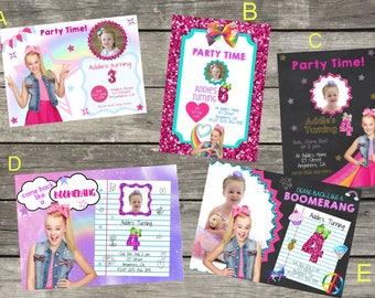 Personalized Nick's Jojo Siwa Birthday Invitation- Digital File Only- DIY 5x7