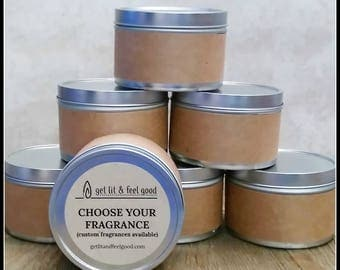 Choose Your Fragrance - 8 oz Soy Candle in a Tin