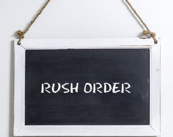 In a Rush? Add this RUSH ORDER to your purchase.