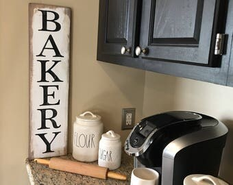 "Rustic Bakery sign 28"" x 7.25"" ,modern farmhouse, kitchen sign,"