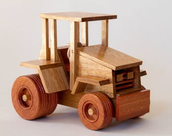 Handmade Wooden Toy Tractor