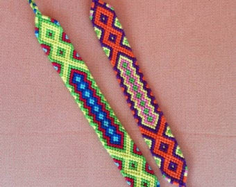 Colorful Friendship bracelet, Knotted bracelet, Braided bracelet, Handwoven bracelet, String bracelet, Bracelet bresilien,Boho bracelet