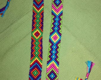 Friendship bracelet,Braided zigzag bracelet,Handwoven bracelet,Knotted bracelet, String bracelet, Summer bracelet, Bracelet bresilien,Boho