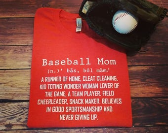 SALE!!! Baseball Mom, baseball, soft feel tee, fast shipping