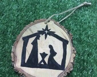 Nativity Christmas Timber Ornament