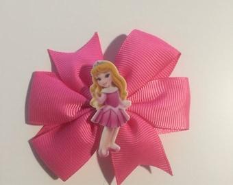 sleeping beauty Aurora hair bow