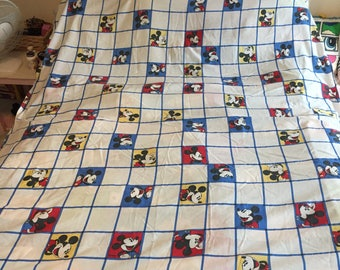 Vintage rare Disney Mickey Mouse flat sheet