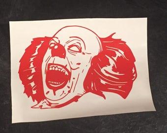 Pennywise the dancing clown Stephen Kings IT Vinyl Decal