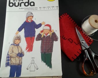 Child Hooded Jacket Pattern Burda 8794 Winter Apparel