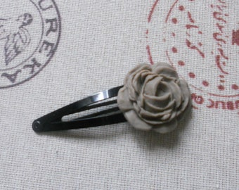 Bobby pin Flower Pink taupe