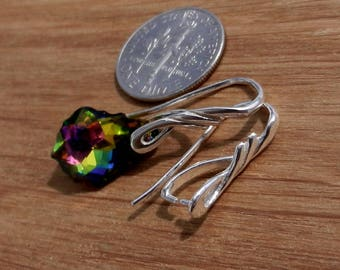 Sterling Silver, Earring, Hooks, Ear Wires, with, Pinch Bail, for, Swarovski, and,other, Stones, Earwires, Findings