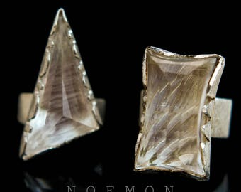 big rock crystal ring, boho ring, 925 sterling silver, quartz ring, pyramid ring, geometrical ring,  bohemian ring,