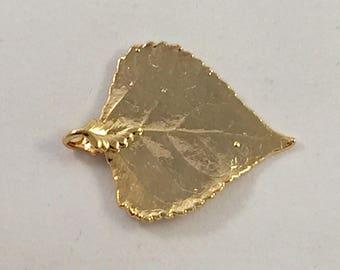 24K gold Filled Grapes Leaf I Aspen leafs I Aspen pendant I Grapes leaf pendant I Gold filled pendant I Grapes leafs I Gold filled
