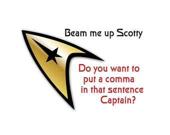 T-SHIRT: Sar Trek / Beam Me Up Scotty - Classic T-Shirt & Ladies Fitted Tee - (LazyCarrot)